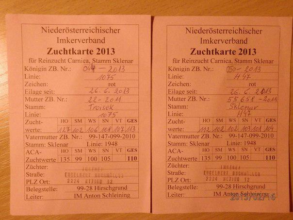 паспорт КАРНИКА тройзек 1075 из Австрии