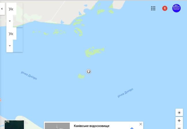 Острівний облітник на Дніпрі