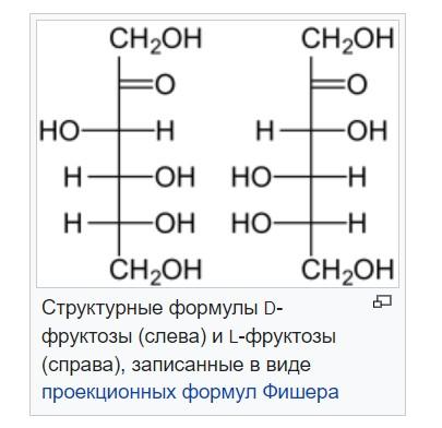 Хімічна формула меду фруктоза